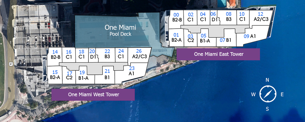 One Miami Floorplans Layout